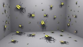 bugs комната Стоковая Фотография RF