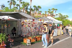 USA, Arizona/Tempe: Booth at Art Festival Royalty Free Stock Image