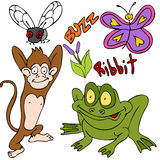Bugs Animals Plants vector illustration