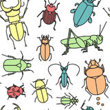 Bugs bakgrund Stock Illustrationer