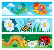 Bugs banners collection 1 royalty free illustration