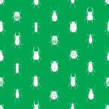 Bugs and beetles simple seamless green pattern. Eps10 Stock Image