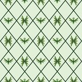 Bugs and birds made of leaves pattern royalty free illustration