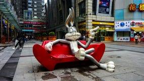 Bugs Bunny nahe Einkaufsstraße Jianghan lizenzfreie stockfotos