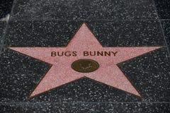 Bugs Bunny stjärna i Hollywood arkivbild