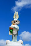 Bugs Bunny figure from Warner Bros. Bugs Bunny Warner Bros figure part of a huge private collection of big figs and original Warner Bros display figures. Bugs Royalty Free Stock Photo