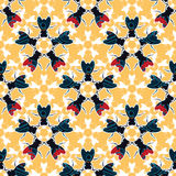 Bugs floral pattern Royalty Free Stock Photos