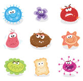 Bugs and germs I. Swine flu, cancer, staphylococcus or trojan virus? Use my BIG COLLECTIONS of bugs and germs. 9 pieces of nasty germs in one collection Royalty Free Stock Image