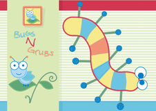 Bugs and grubs. Vector illustration of bugs and caterpillar Stock Image