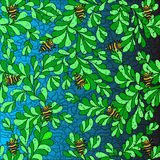 Bugs on the leaves vector illustration background wallpaper Stock Image