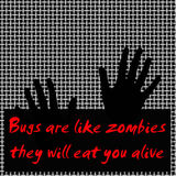 Bugs like zombies Royalty Free Stock Images