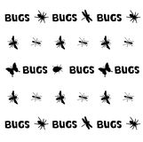 Bugs pattern Royalty Free Stock Photography