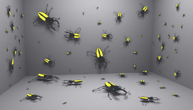 Bugs room Royalty Free Stock Photography