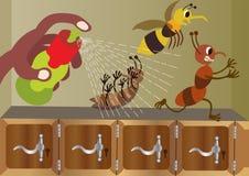 Doom Spray on bugs royalty free illustration