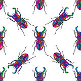 Bugs seamless pattern vector hand drawn Stock Images