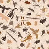 Bugs seamless tile Royalty Free Stock Image