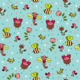 Bugs seamless wallpaper. Royalty Free Stock Image