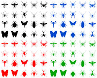 Bugs silhouettes Royalty Free Stock Image