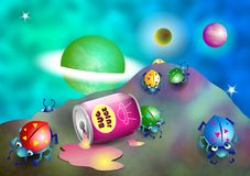 Bugs in Space vector illustration