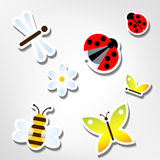 Bugs stickers vector Stock Photography
