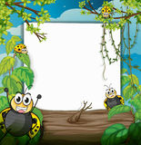Bugs in the woods. Illustration of bugs in the woods Stock Photography