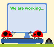 Bugs at work Stock Photo