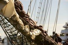Bugspriet des Segelschiffs Stockfotos