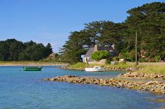 Bugueles coast in Brittany royalty free stock images