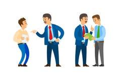 Buh-Führer der Firma sprechend mit Büroangestellten vektor abbildung