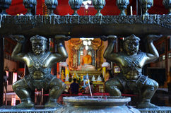 Buhhda Wat WANG Wiwekaram Sangkhlaburi Kanchanaburi Ταϊλάνδη Στοκ Φωτογραφίες