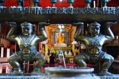 Buhhda of Wat Wang Wiwekaram Sangkhlaburi  Kanchanaburi Thailand Royalty Free Stock Photo