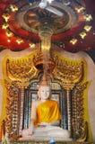 Buhhda of Wat Wang Wiwekaram Sangkhlaburi  Kanchanaburi Thailand Stock Image