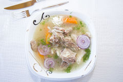 Buhler - Buryat soup with lamb. Royalty Free Stock Photography