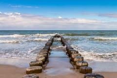 Buhnen на Балтийском море Стоковое Фото