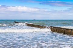 Buhnen на Балтийском море Стоковые Изображения RF