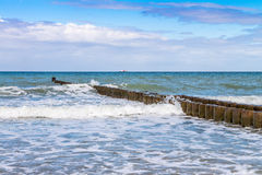 Buhnen at baltic sea Royalty Free Stock Images