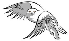 Buho blanco stock de ilustración