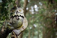 Buho en el bosque Foto de archivo libre de regalías