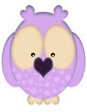 Buho púrpura Imagenes de archivo
