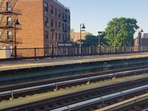 Buhre Allee-Station im Bronx lizenzfreie stockbilder