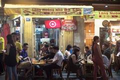 Bui Vien Street. Ho Chi Minh City, Vietnam - 30 December 2017. Bui Vien Street is the main street of the so called 'backpackers area' of Ho Chi Minh City Royalty Free Stock Image