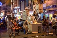 Bui Vien Street. Ho Chi Minh City, Vietnam - 30 December 2017. Bui Vien Street is the main street of the so called 'backpackers area' of Ho Chi Minh City Stock Image