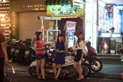 Bui Vien Street. Ho Chi Minh City, Vietnam - 30 December 2017. Bui Vien Street is the main street of the so called 'backpackers area' of Ho Chi Minh City Stock Photo