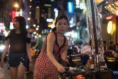 Bui Vien Street. Ho Chi Minh City, Vietnam - 30 December 2017. Bui Vien Street is the main street of the so called 'backpackers area' of Ho Chi Minh City Stock Photography