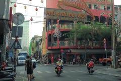 Bui Vien Street. Ho Chi Minh City, Vietnam - 1 January 2018. Bui Vien walking street morning view in Ho Chi minh City Stock Photos