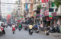 Bui VIen Street. Ho Chi Minh City, Vietnam-Nov 1st 2013: Bui Vien Street. The street  is a famous bachpacker and expat area of the city Stock Photos