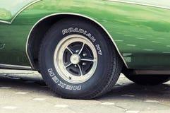1971年Buick里维埃拉关闭 免版税库存照片