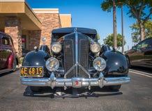 1937 Buick 8 - ο Μαύρος - μέτωπο Στοκ εικόνα με δικαίωμα ελεύθερης χρήσης
