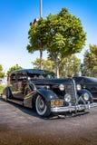 1937 Buick 8 - ο Μαύρος - μπροστινό τέταρτο Στοκ Εικόνες