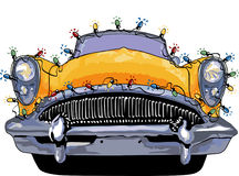 Buick Christmas lights royalty free illustration